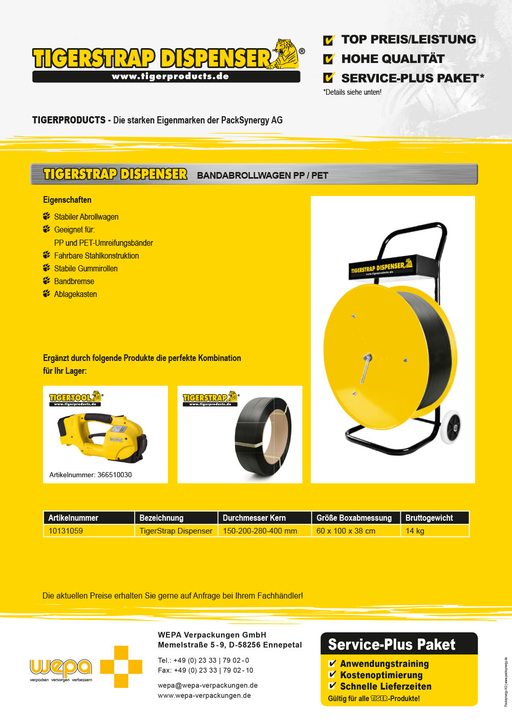 TigerStrap Dispenser Flyer